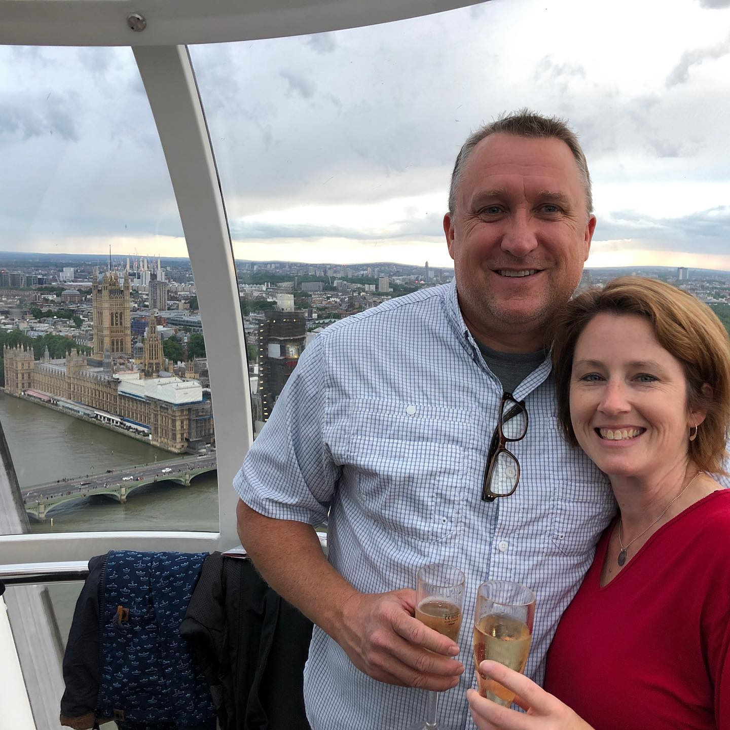 A toast on the London Eye