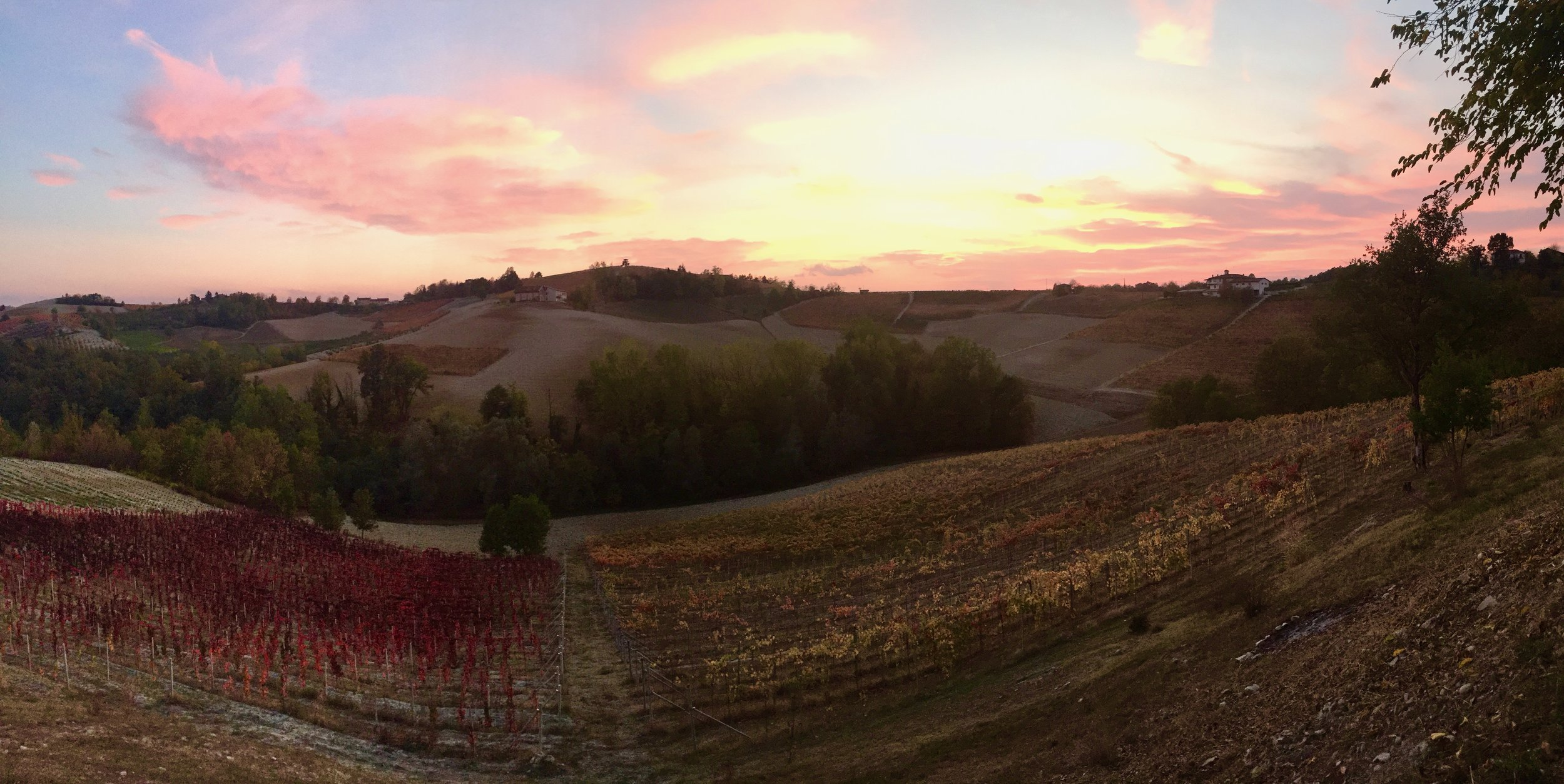 Sunset in Piedmont in the Fall