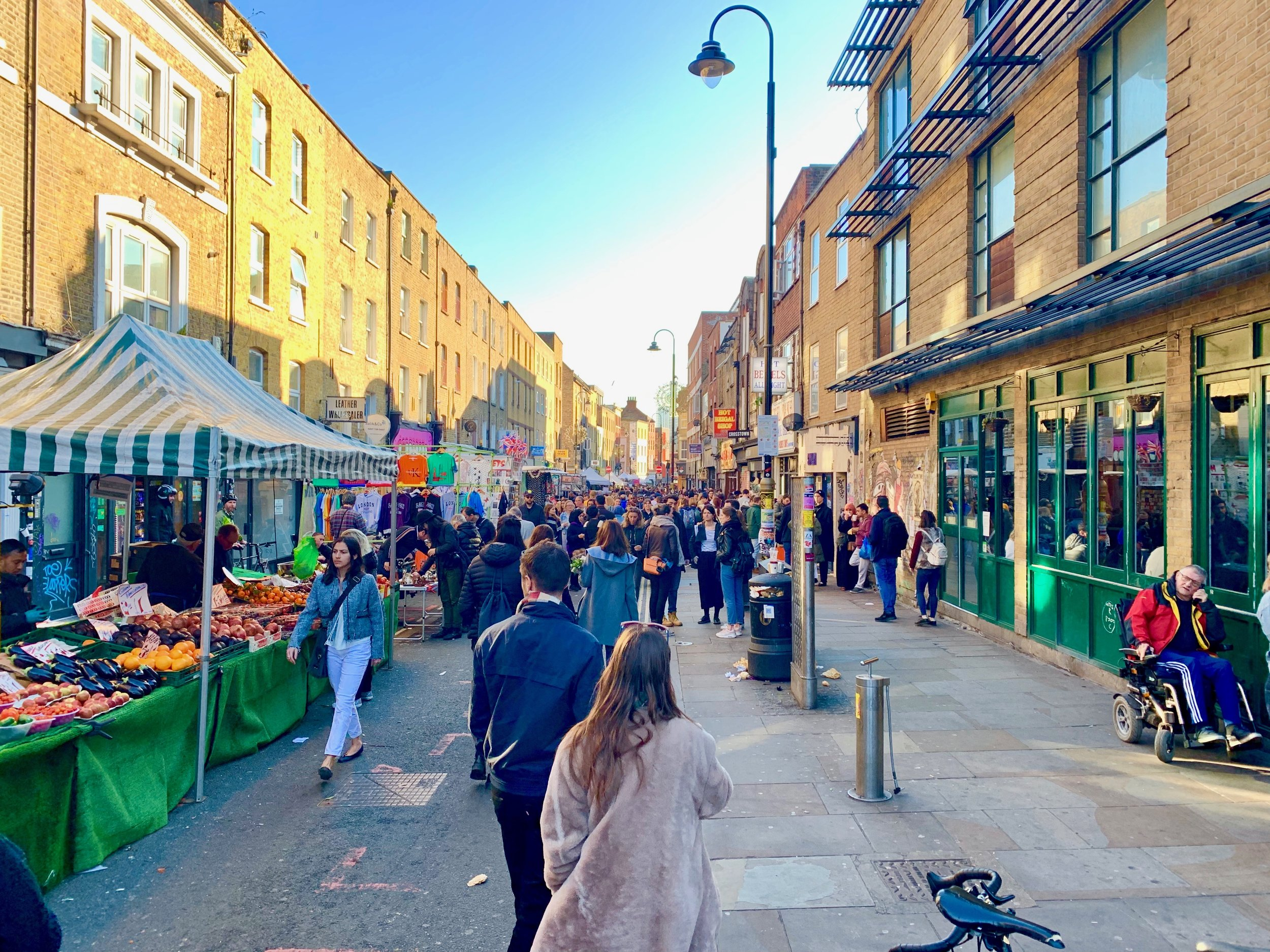 The Brick Lane Market happens every Sunday in East London