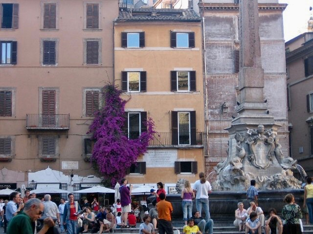 The beautiful Campo de' Fiori in Spring