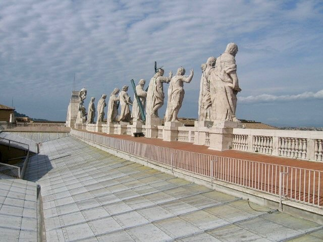 Host of Saints atop St. Peter's Basilica