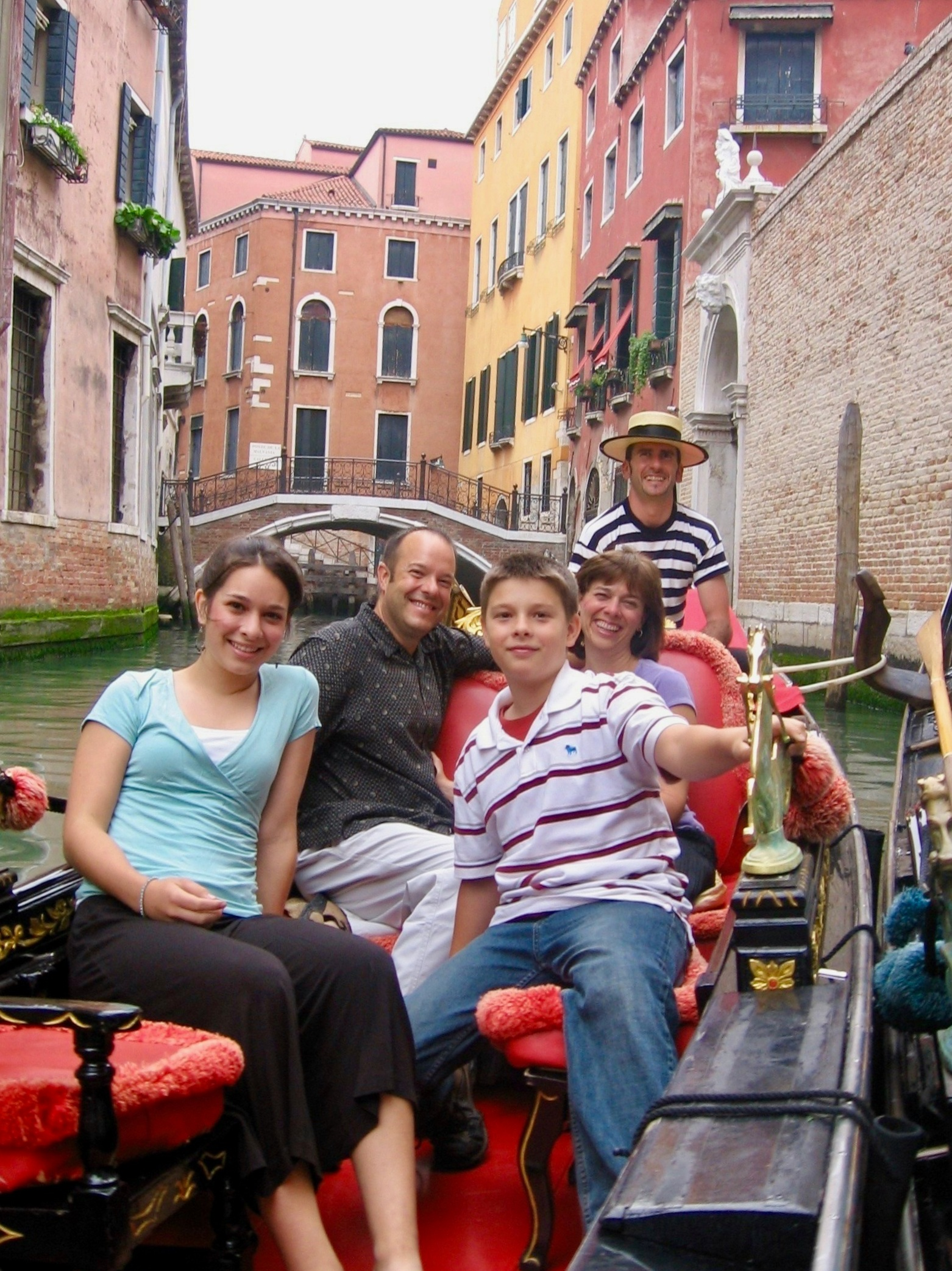 Our family gondola ride in 2006