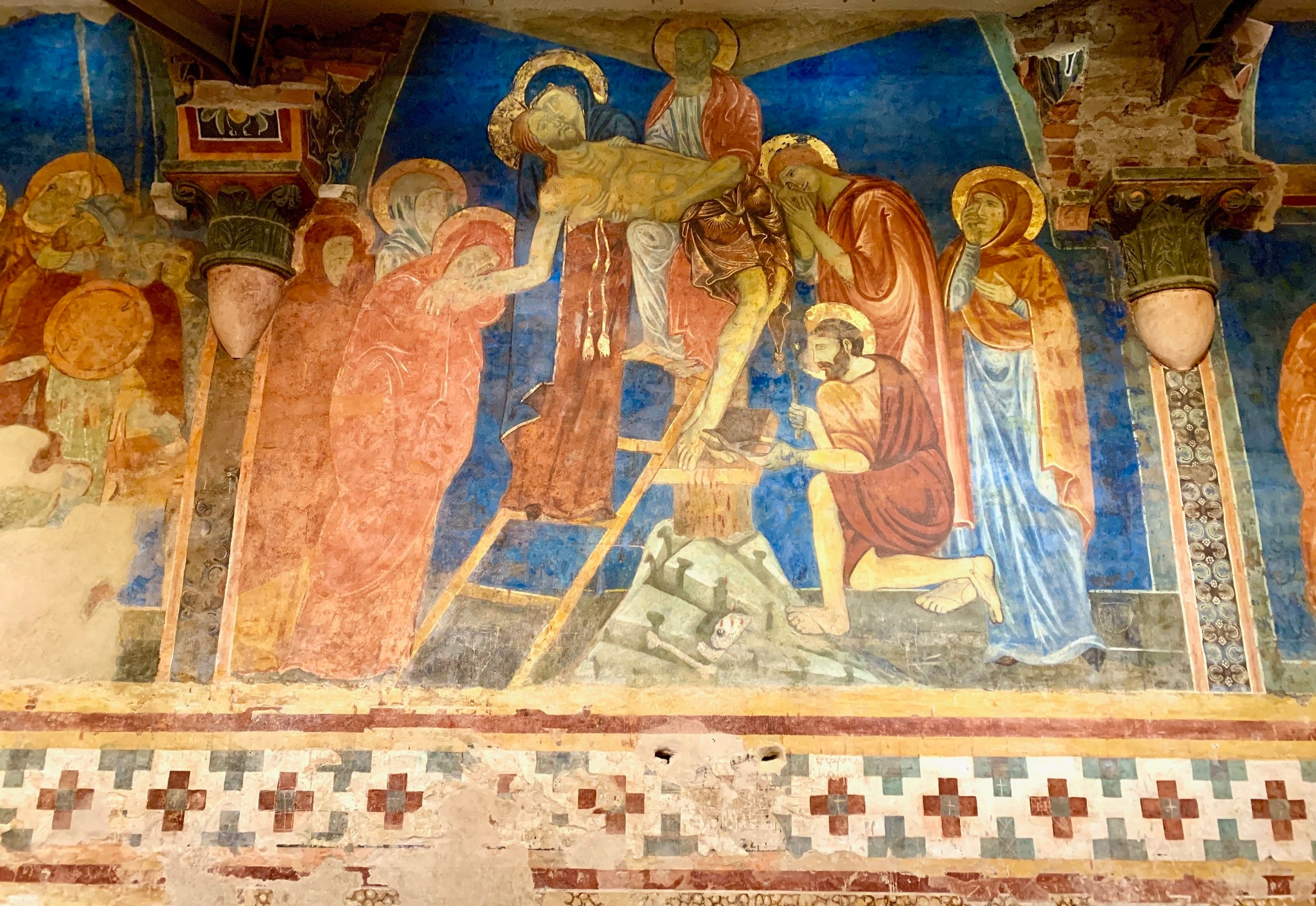 13th century fresco in the Crypt of the Duomo di Siena