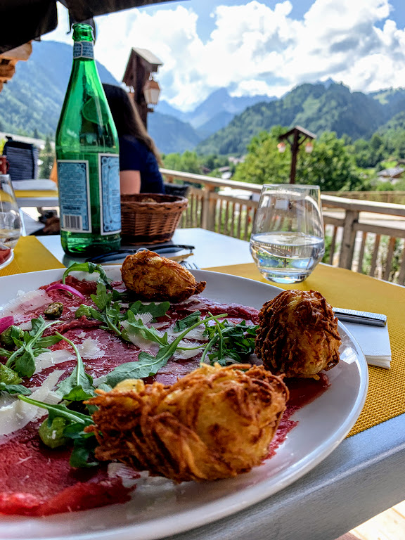 A sophisticated lunch at La Table d'Hotes Savoie