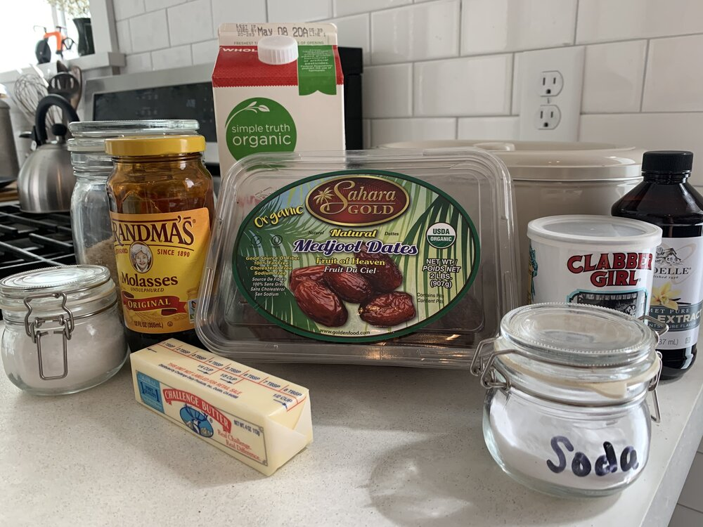 Sticky Toffee Pudding Cake Ingredients