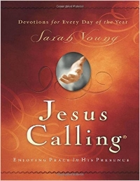 Uniquely inspired treasures from heaven for every day of the year by missionary Sarah Young.   Jesus Calling  is a devotional filled with uniquely inspired treasures from heaven for every day of the year.  After many years of writing in her prayer journal, missionary Sarah Young decided to listen to God with pen in hand, writing down whatever she believed He was saying to her.  It was awkward at first, but gradually her journaling changed from monologue to dialogue.  She knew her writings were not inspired as Scripture is, but journaling helped her grow closer to God.  Others were blessed as she shared her writings, until people all over the world were using her messages.  They are written from Jesus' point of view, thus the title Jesus Calling.  It is Sarah's fervent prayer that our Savior may bless readers with His presence and His peace in ever deeper measure.