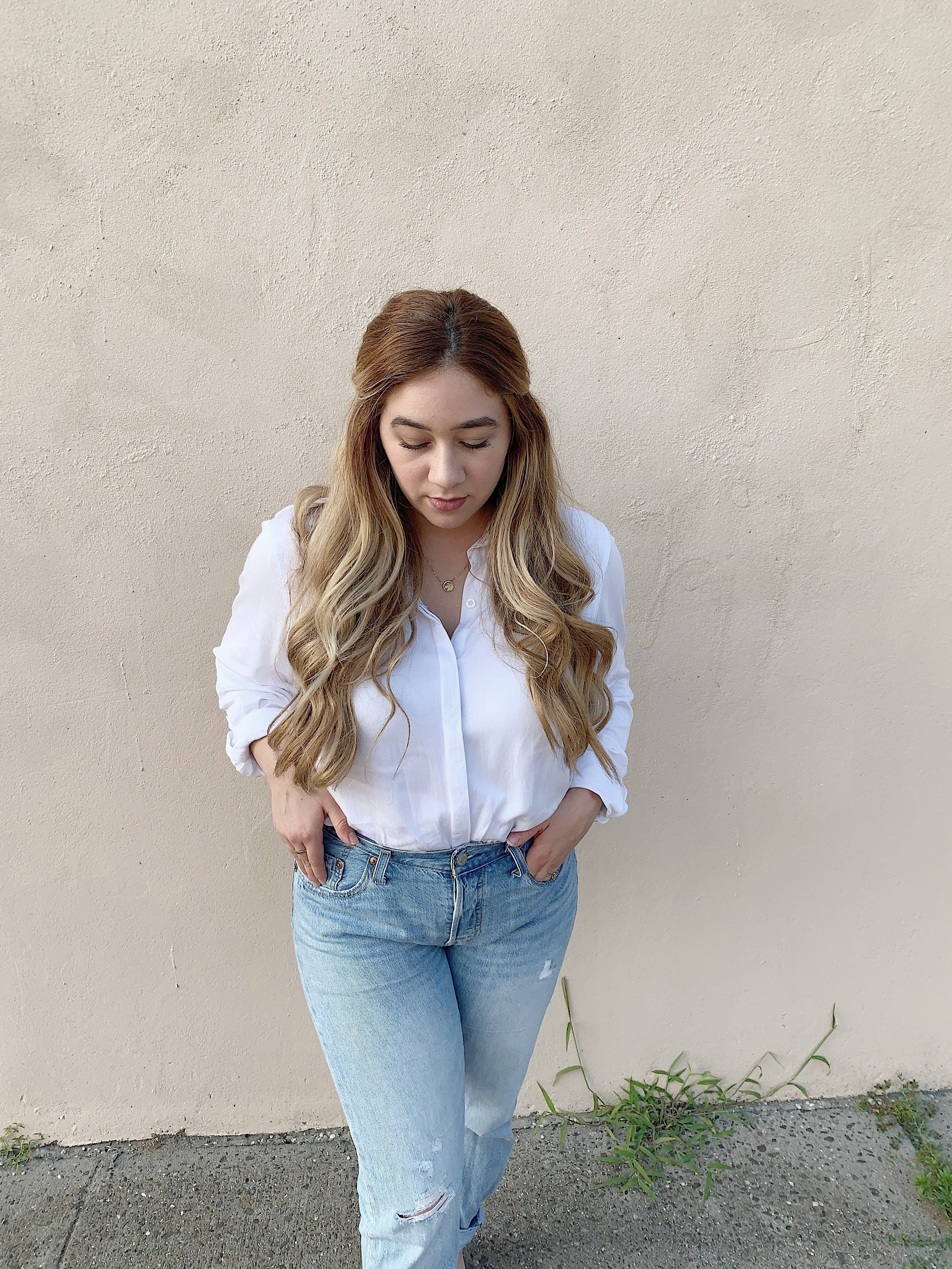 Top: Thrifted  Jeans: Levis 501  Necklace: Made by Mary