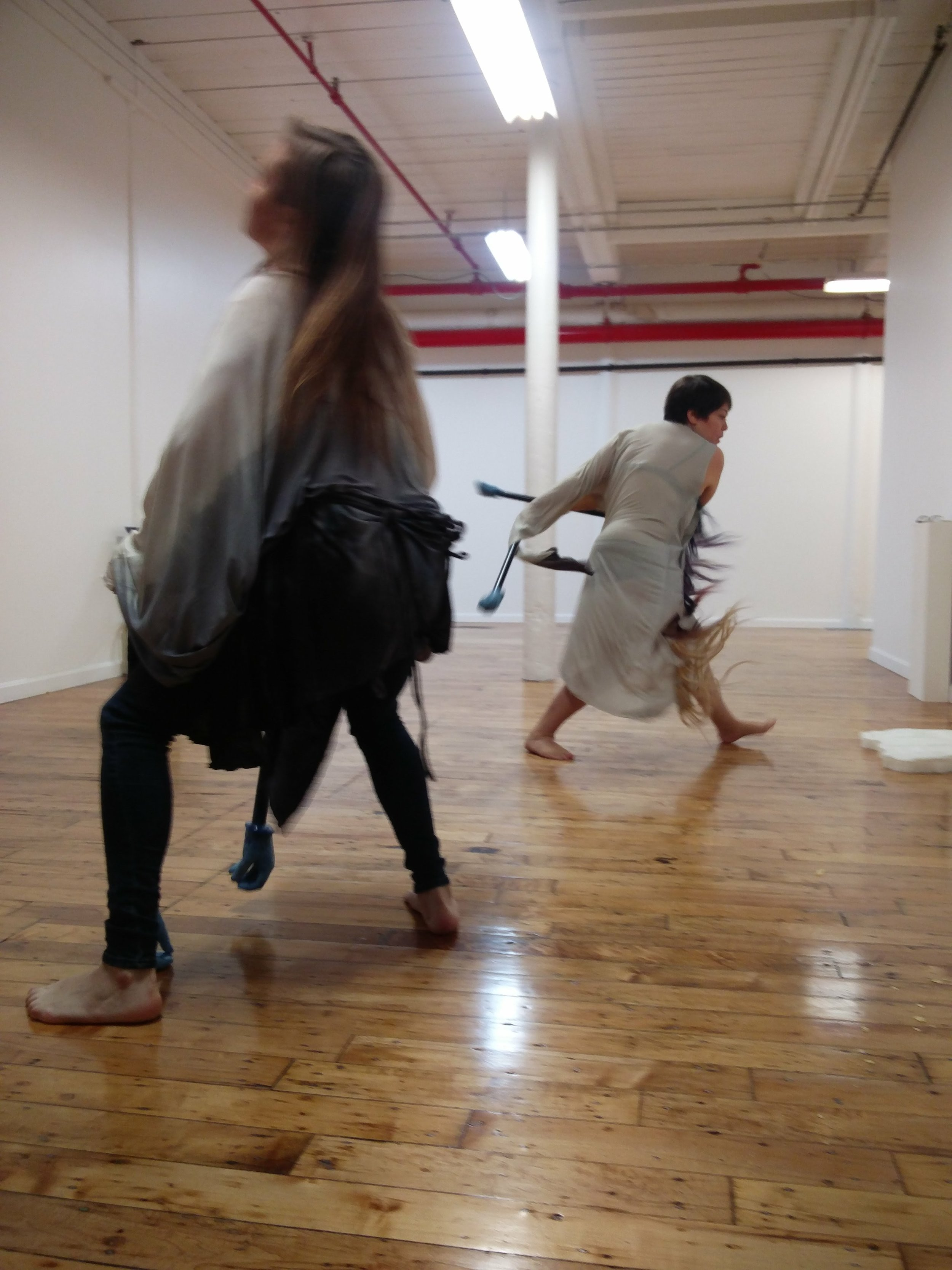 Kathie Halfin with Jean Carla Rodea,  What moves as a body returns as a movement of thought,  2017 (performance)
