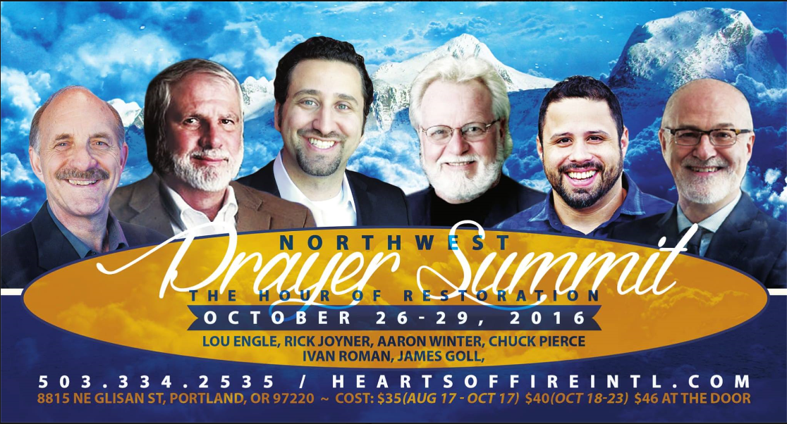 The Purpose of the Event:    Join us at the Northwest Prayer Summit to exalt Jesus Christ as LORD over our community, region, and nation. As a unified Body of Christ, let's engage in strategic transformational prayer and by the grace of GOD usher in breakthrough!