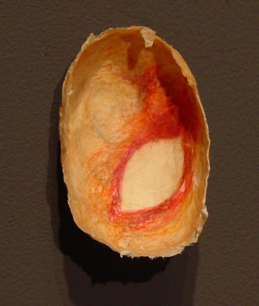 Ephemera Detail: Red-Orange leaf halo