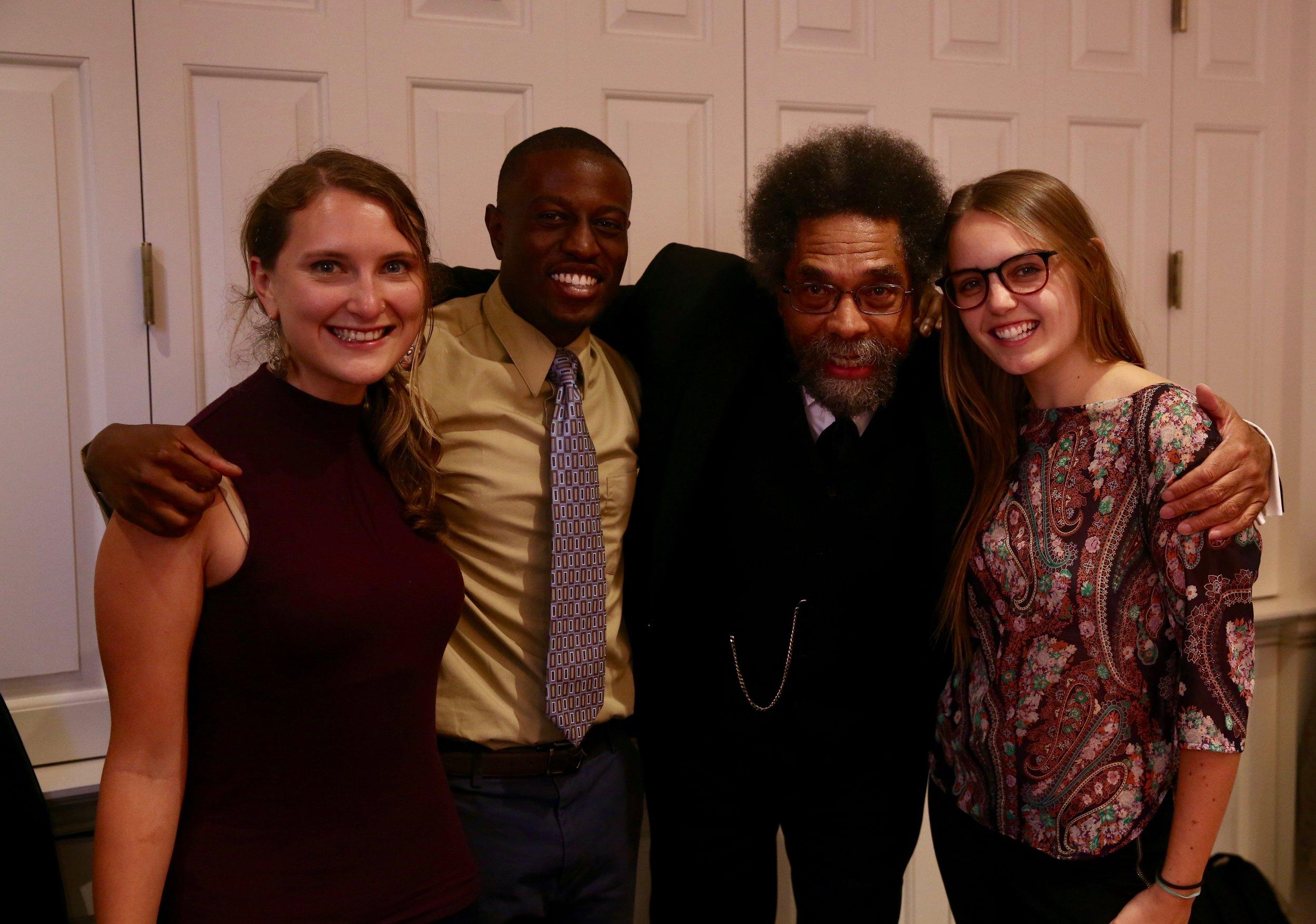 HGSE student and Communication Fellow Grace Tatter (left), with friends (Photo: Iman Rastegari)