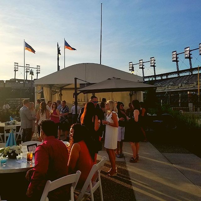It's opening day in Detroit! The streets are bustling and the park will be packed with die-hard Tigers fans. Here's a throwback to one of our events last summer at the beautiful @dac_detroit that over looked Comerica Park. Go Tigers! 🐯⚾️#OpeningDay #DetroitTigers #ThrowbackThursday #JRTC #detroitevents