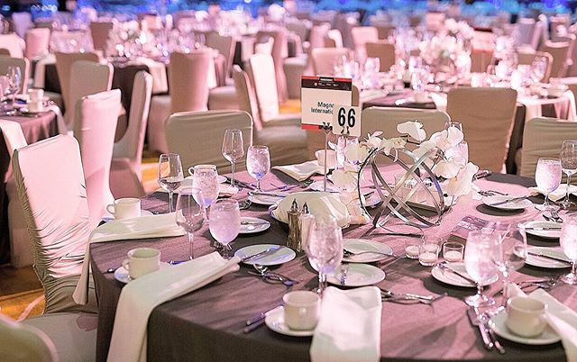 Our table set up for the Automotive Hall of Fame 2019 event! So classy and so clean. #eventplanner #eventplanning #detroit
