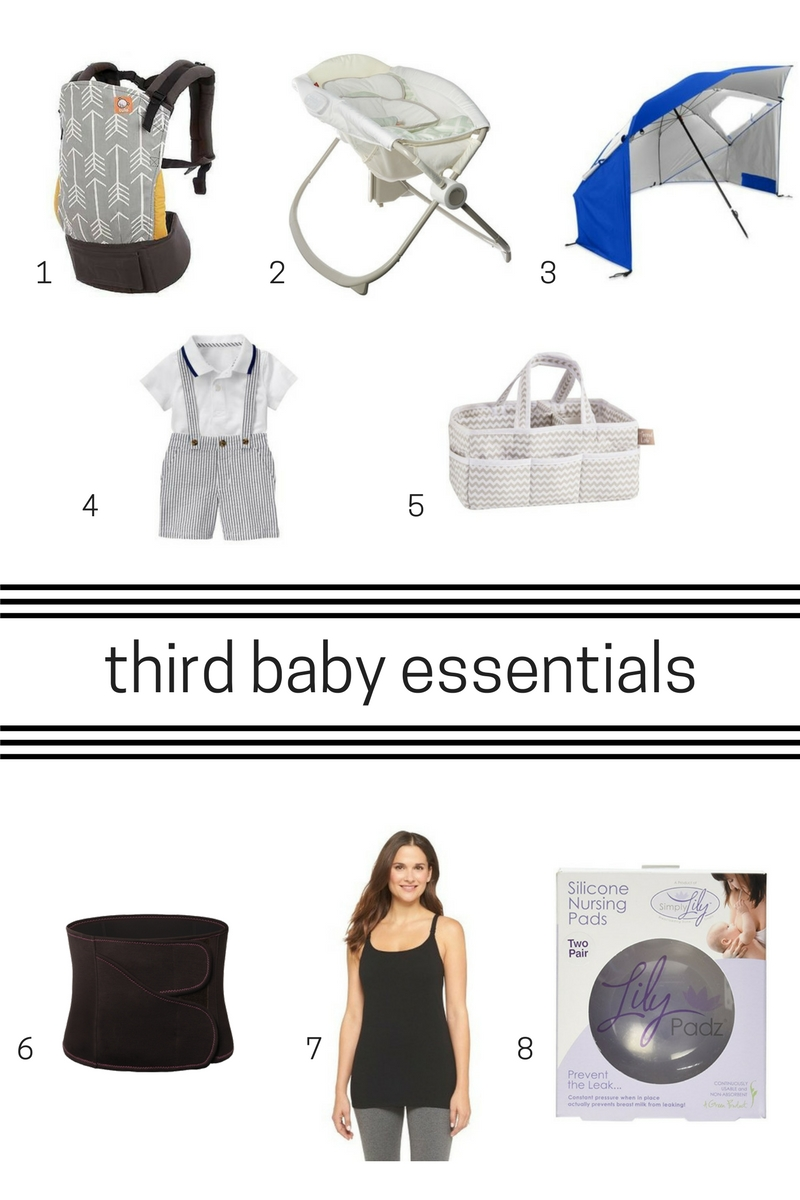 products to buy for third baby