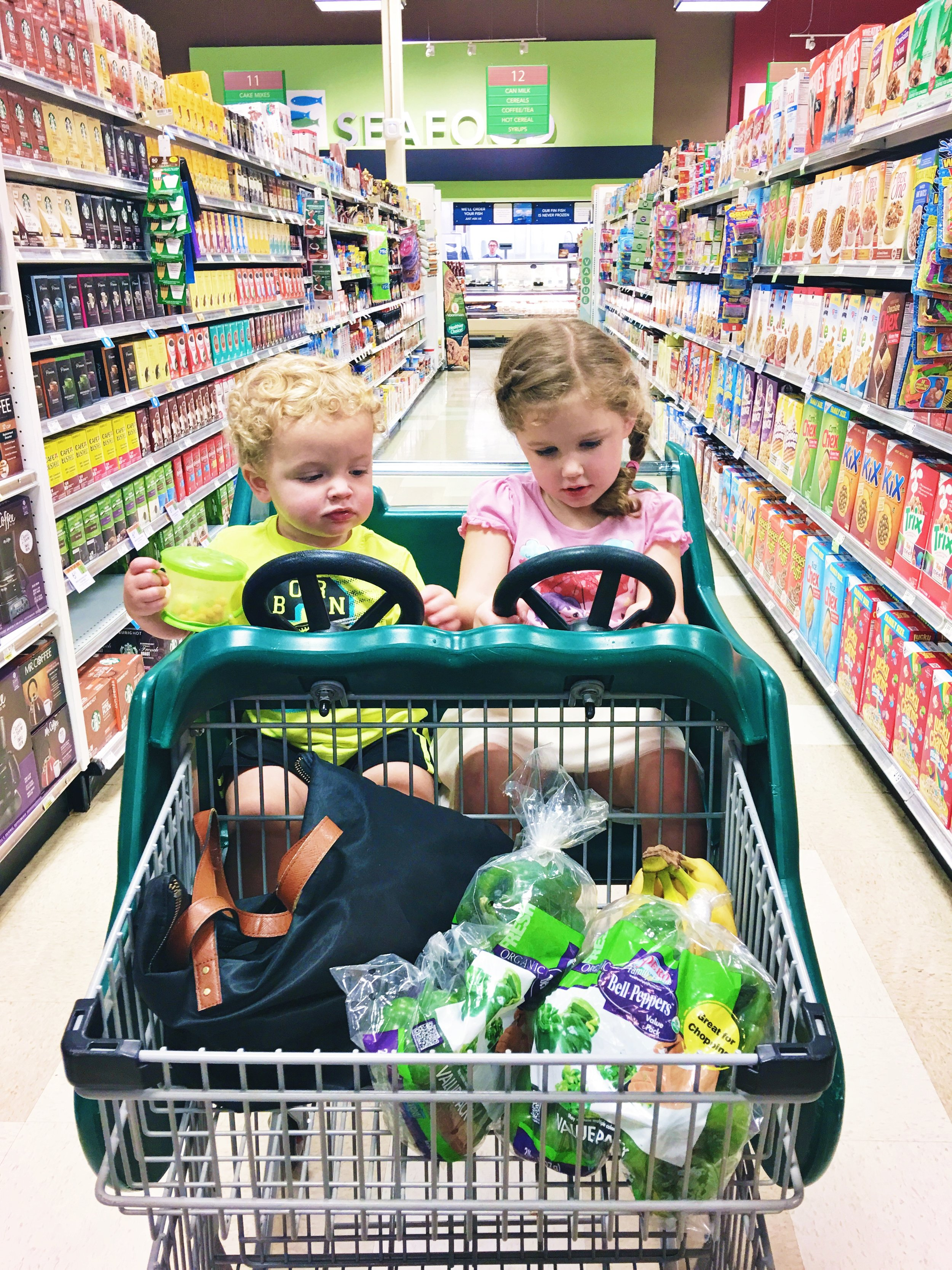 grocery shopping with toddlers