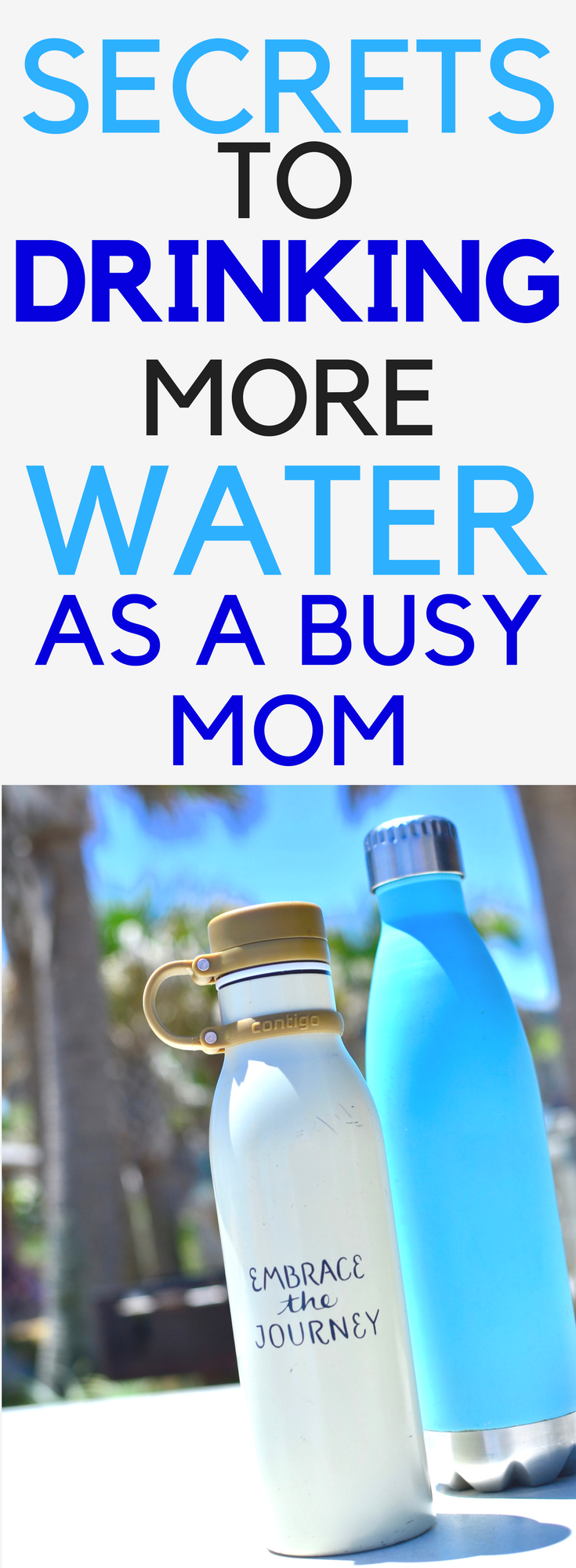 drink more water as a busy mom