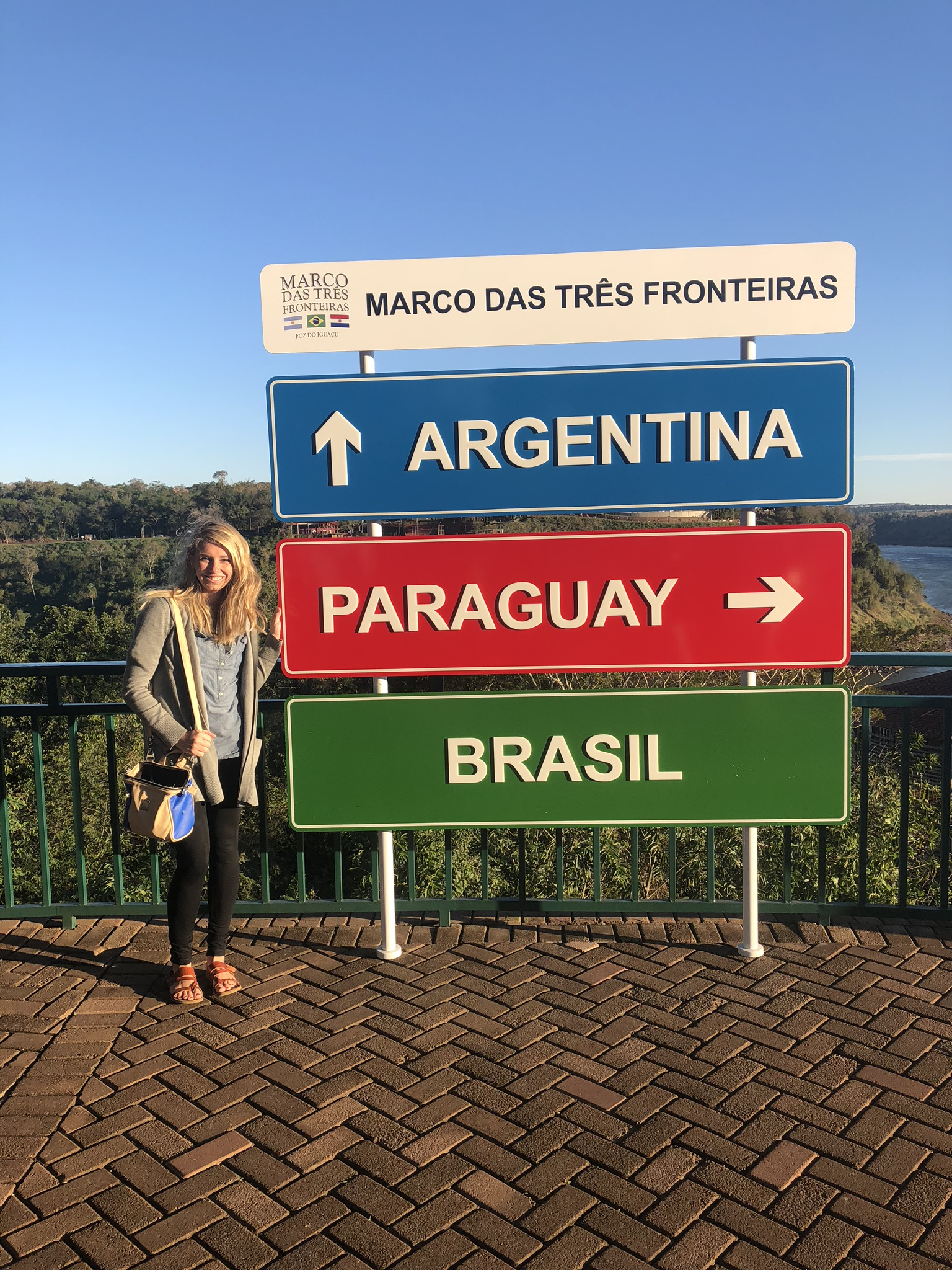 Three Boarders Landmark (Marco das Tres Fronteiras) in Brazil