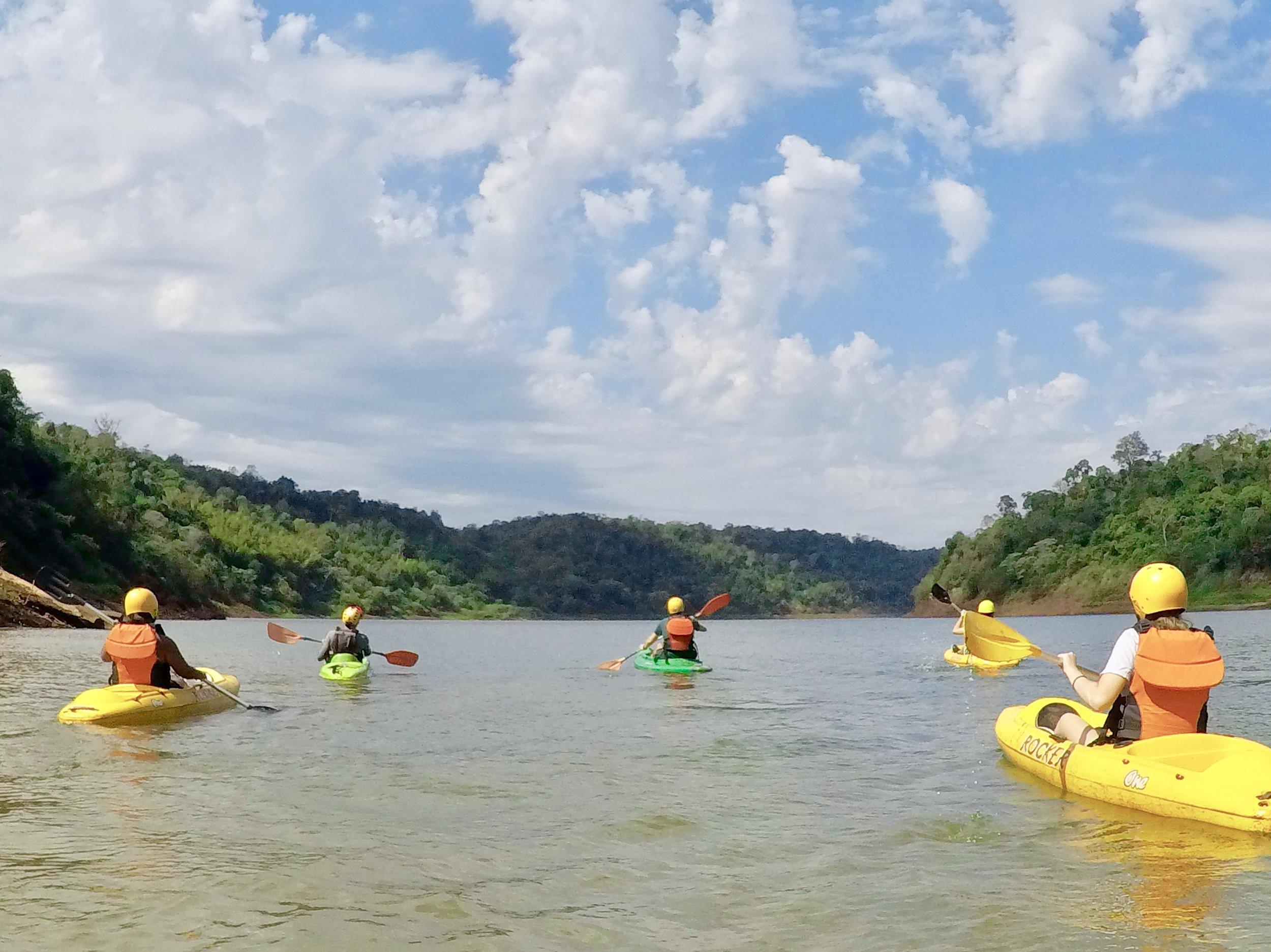 Kayak on the Iguazu River in Brazil