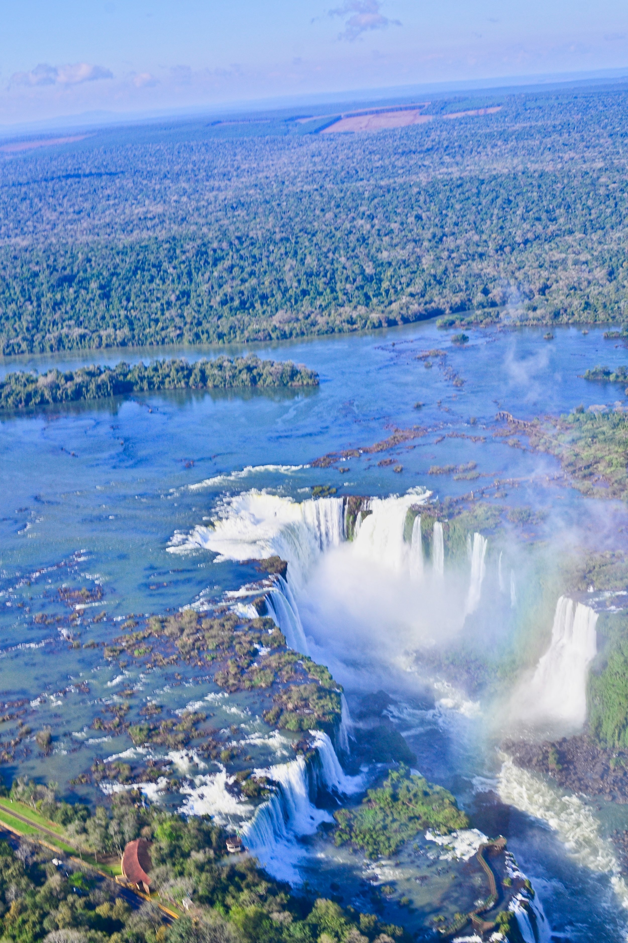 View of Iguazu Falls from a Helicopter