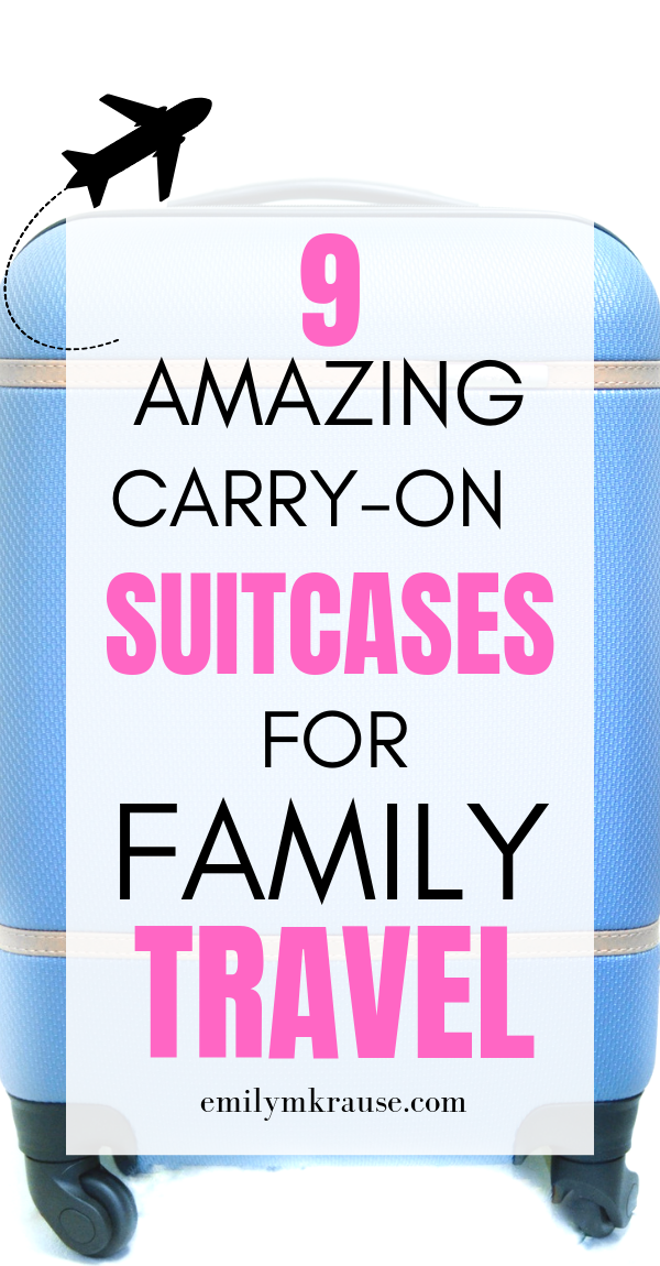 9 incredible carry-on suitcases for family travel. If you want to avoid checked bags, check out these suitcases!.png