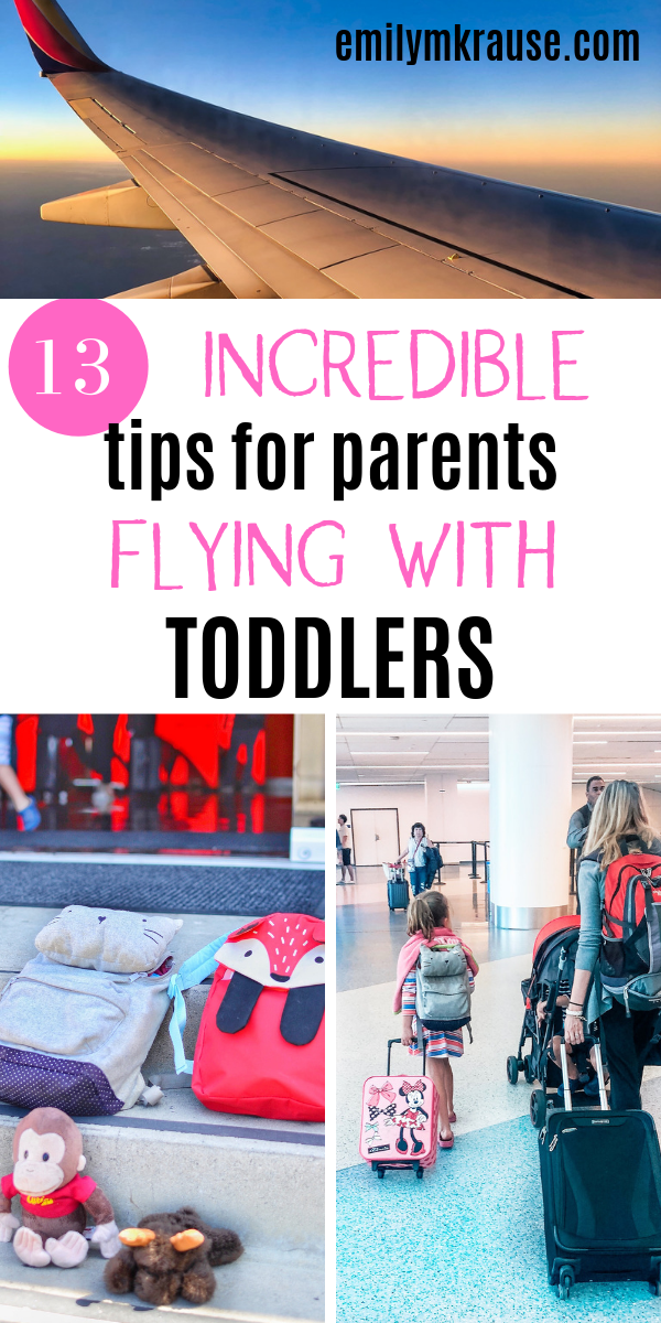 Flying with a toddler under 2? Here's what to take to fly with kids, how to occupy your toddler on a plane, and snack ideas for a long plane ride. Flying with young kids doesn't have to be a pain!-2.png
