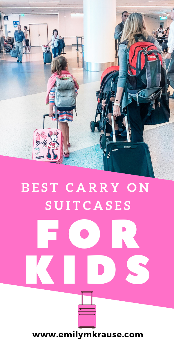 Want to avoid checking bags with kids_ Check out these carry on suitcases for travelign families and the best kids carry on luggage. You'll end up saving money and time at the airport by using these awesome tried and.png