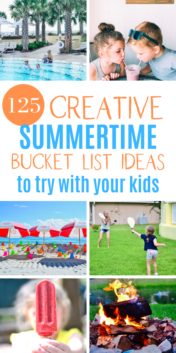 125 Summer bucket list ideas for kids. How to occupy your kids this summer during the long days at home. Here are 125 things to do in summer and adventurous summer ideas for families. Great for toddlers, preschoolers, and kids!