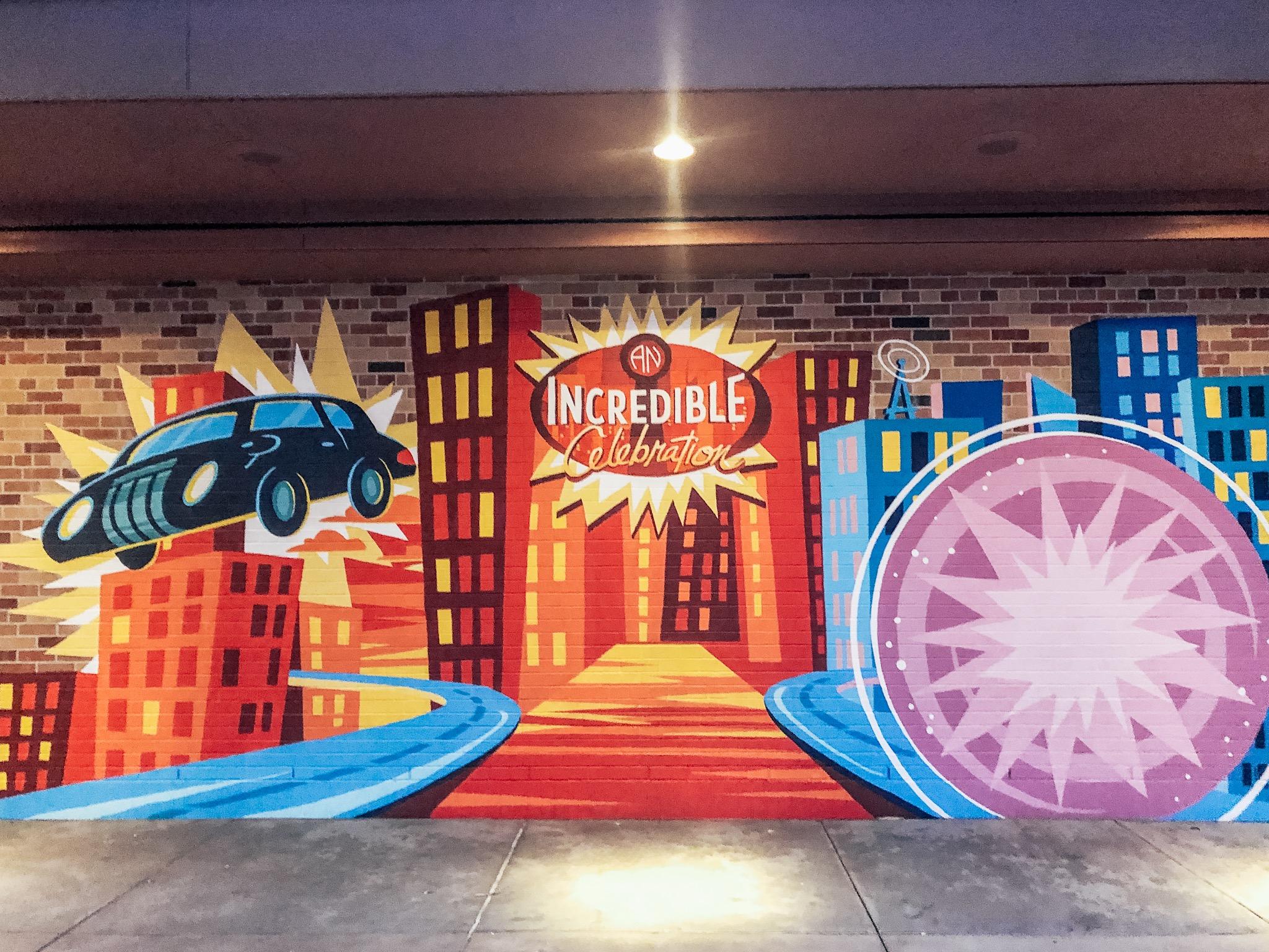 Incredibles Wall at Hollywood Studios