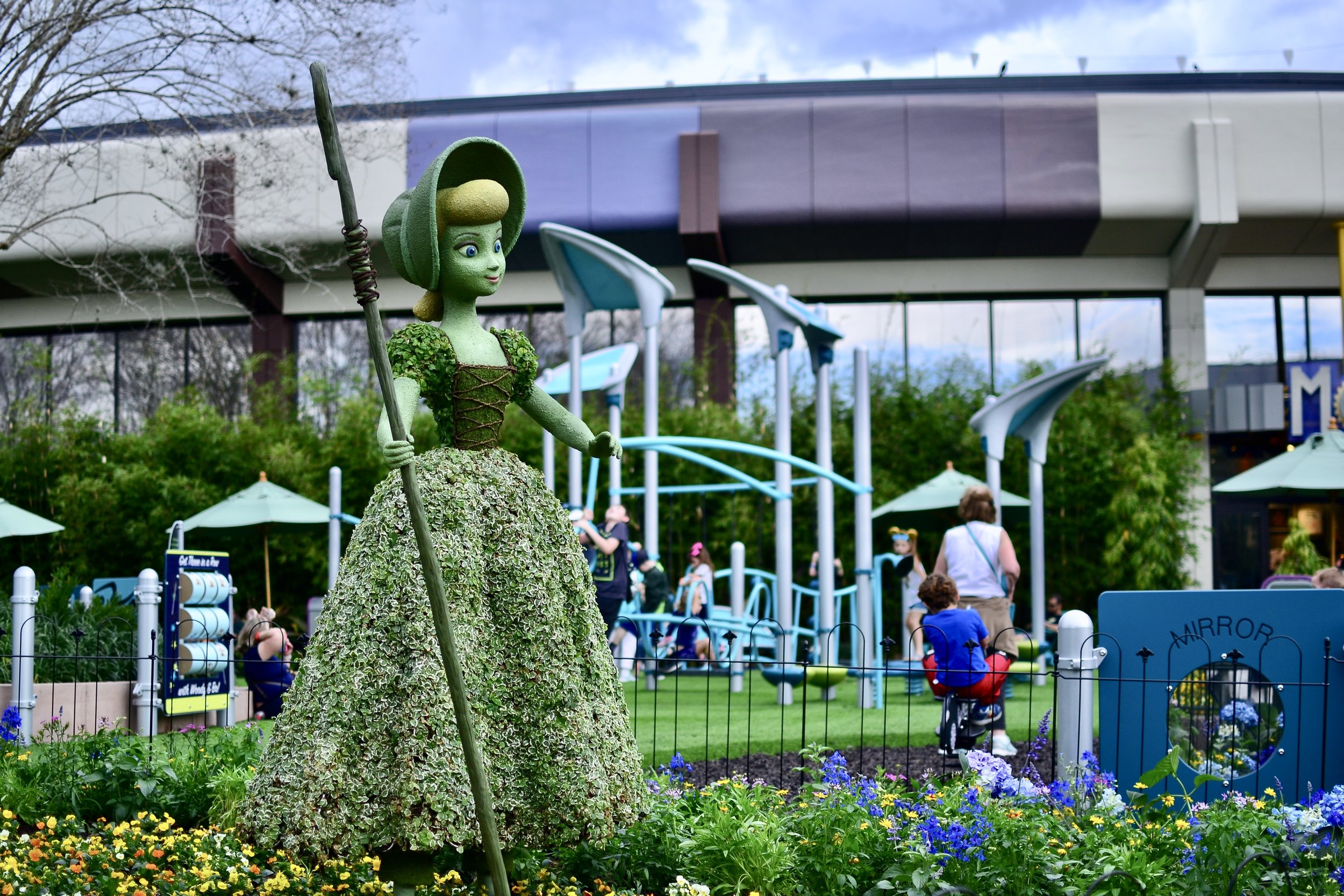 Bo Peep Playground at Epcot's Flower and Garden