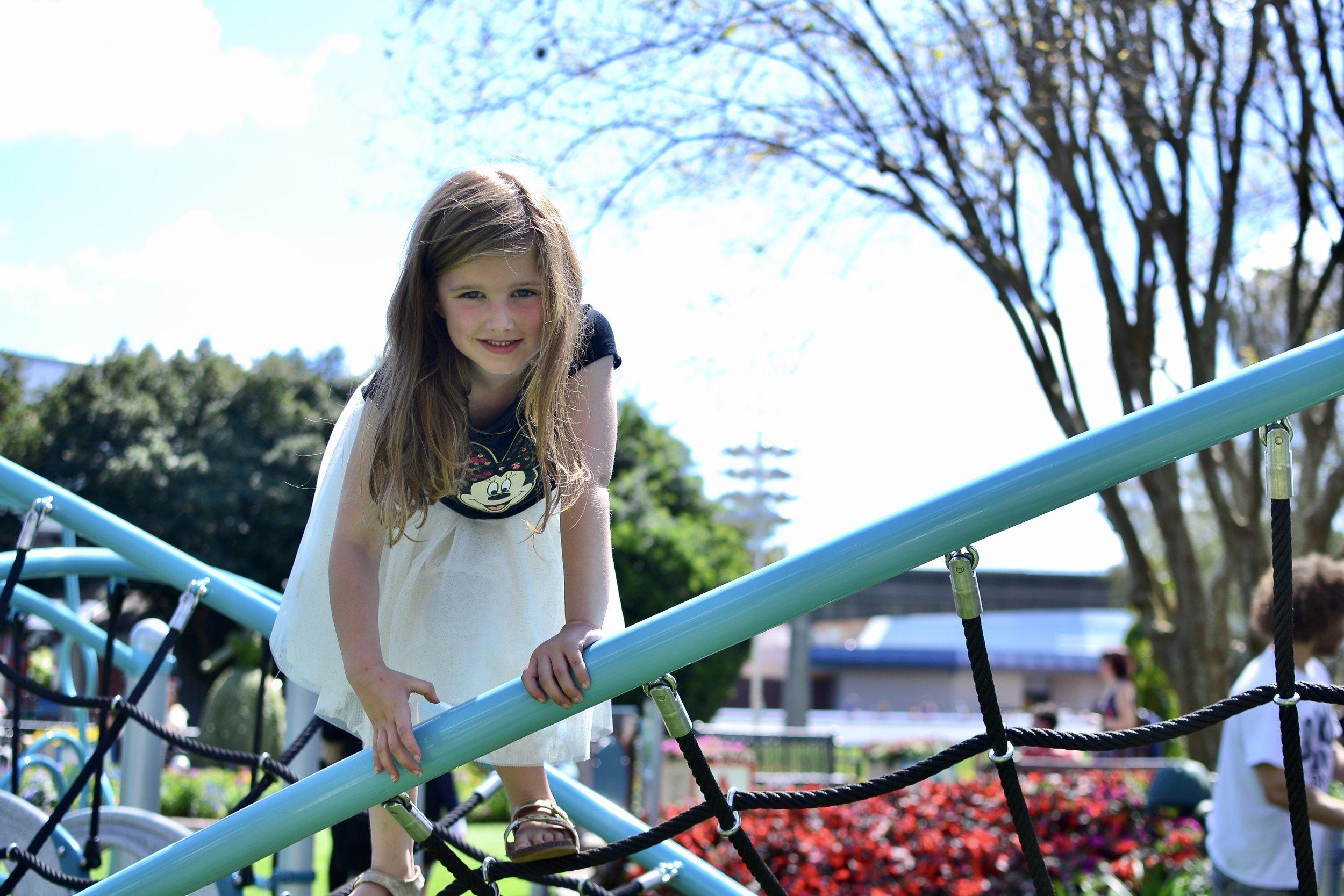 Kids playgrounds flower and garden festival