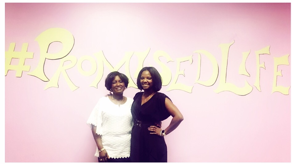 """10 Blessings Founder  Natasha T. Brown (left) with Clara McPherson,whose daughter was fatally stabbed to death in 2012. Ms. Clara is now a domestic violence advocate whose main message to victims is to, """"break the silence."""""""