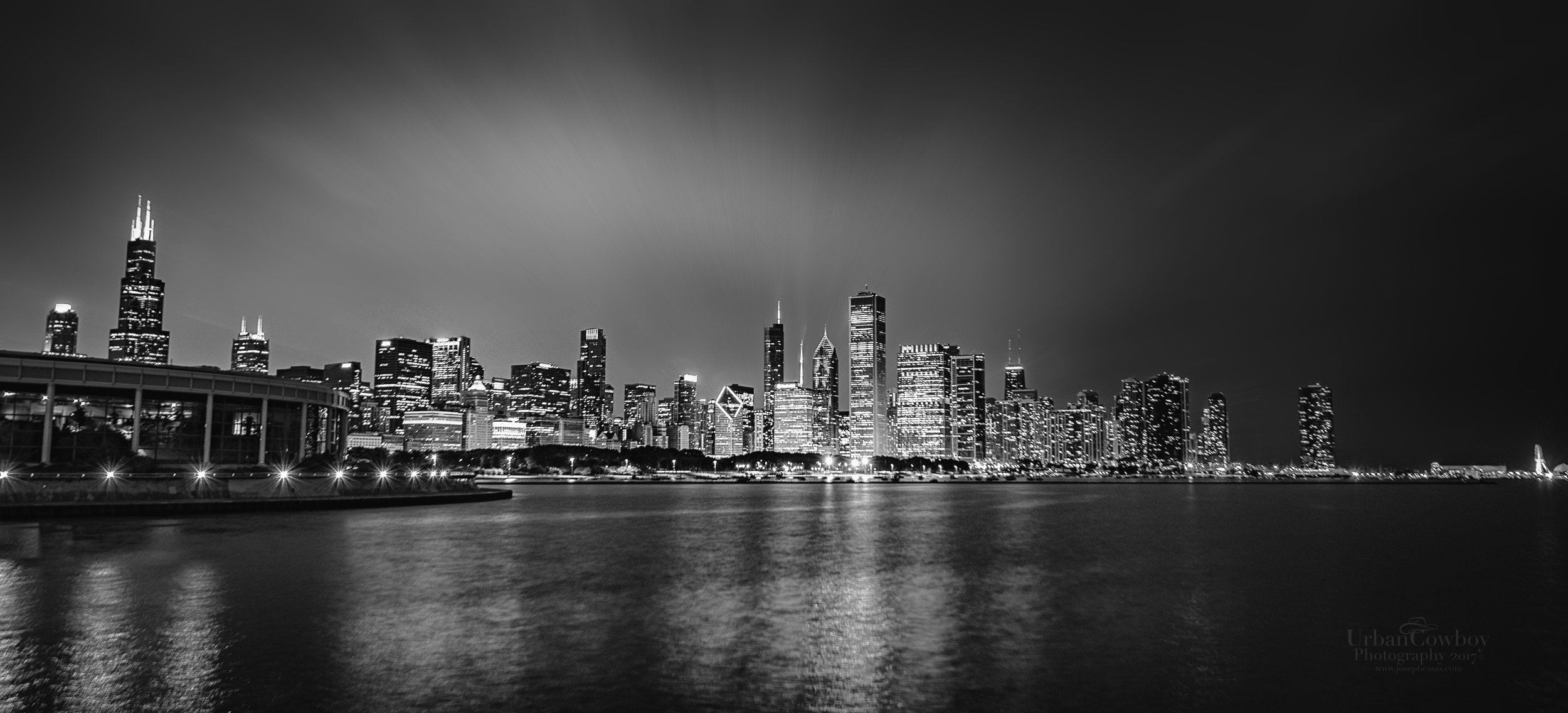 Chicago Skyline From Shelter Island LE II BW.jpg