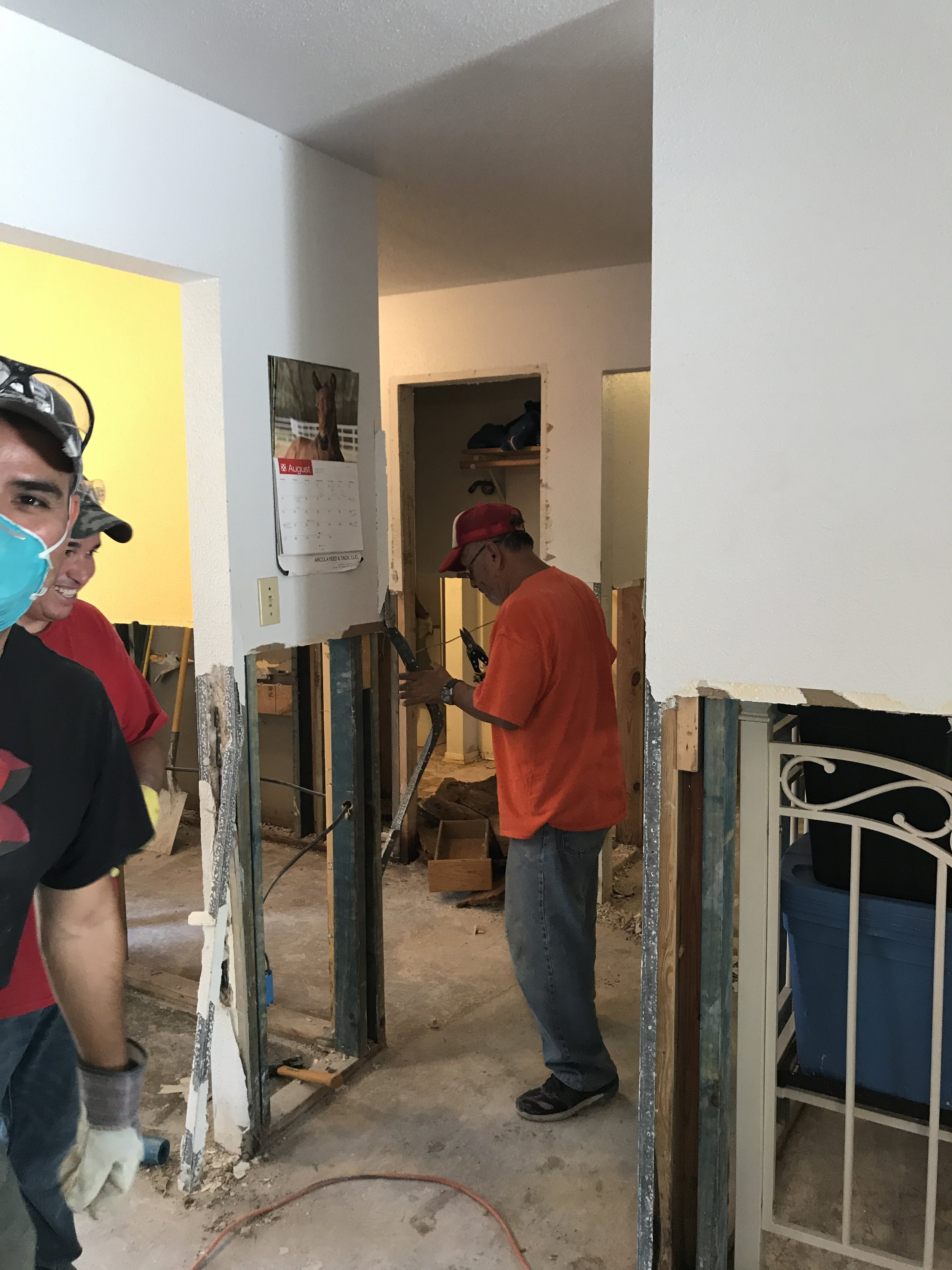 Removing sheetrock and edging