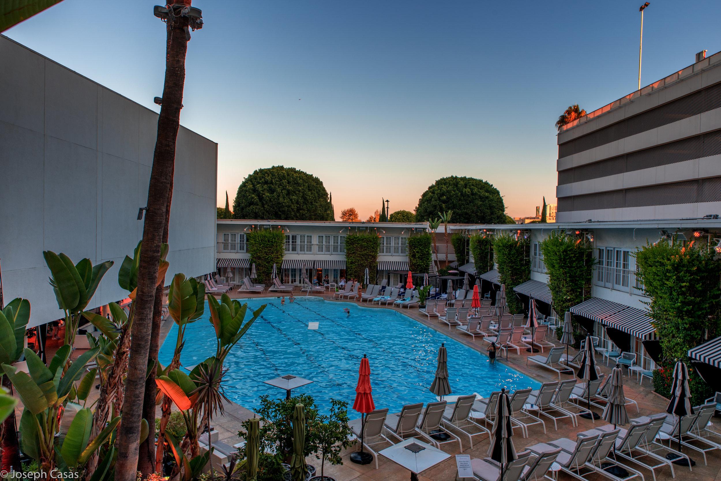 Beverly Hilton Pool @ Sunset