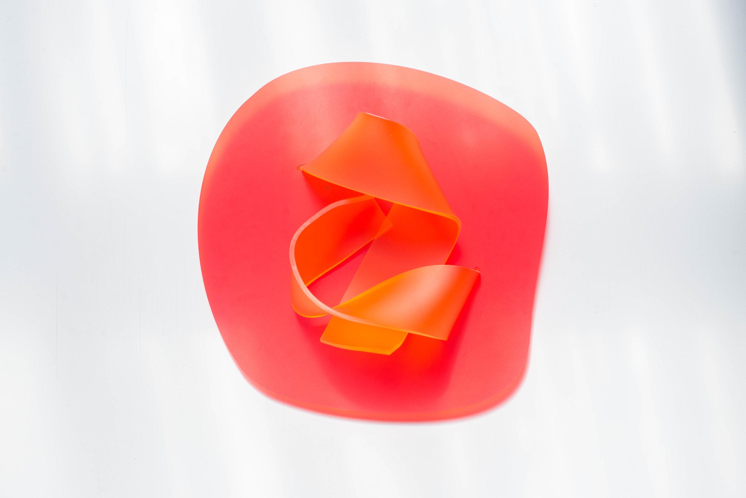 No title (Red Orange), 2017.