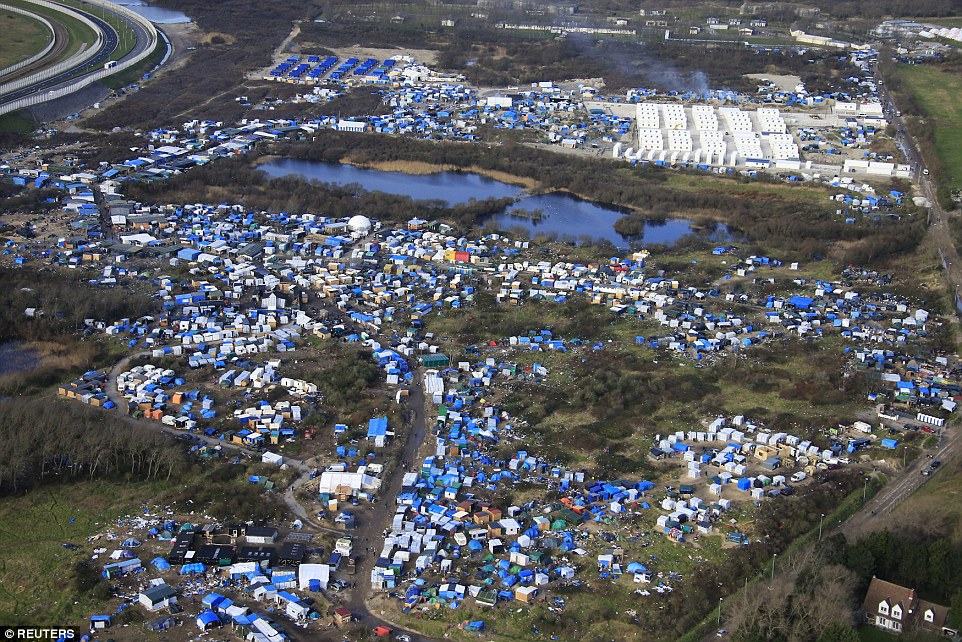 Calais from above.Photograph: Reuters