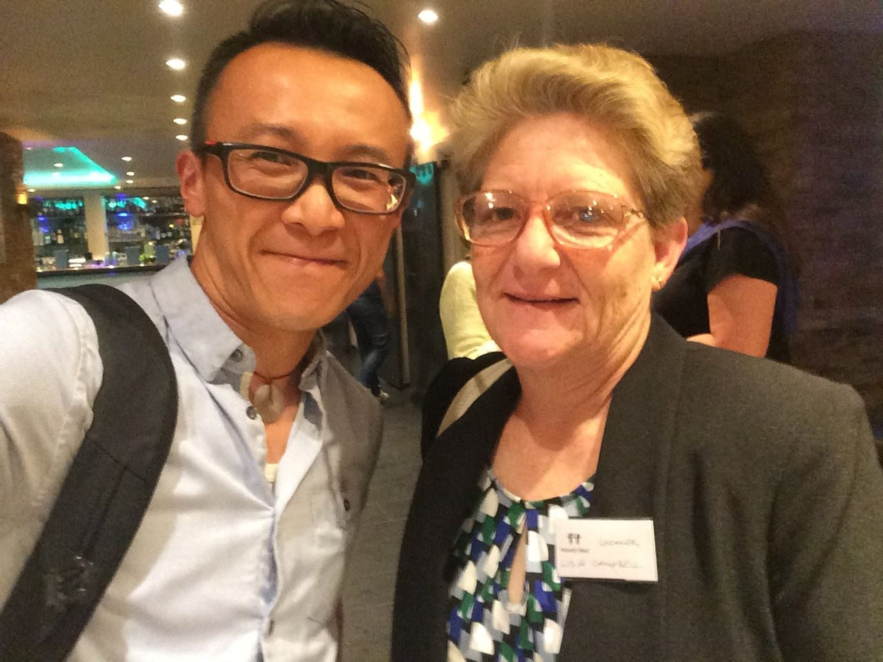 """JC Cheung (Cinematographer for """"Humanity Rising in the Refugee Crisis"""") with Lisa Campbell from Do-Your-Part.   Photo credit: JC Cheung"""