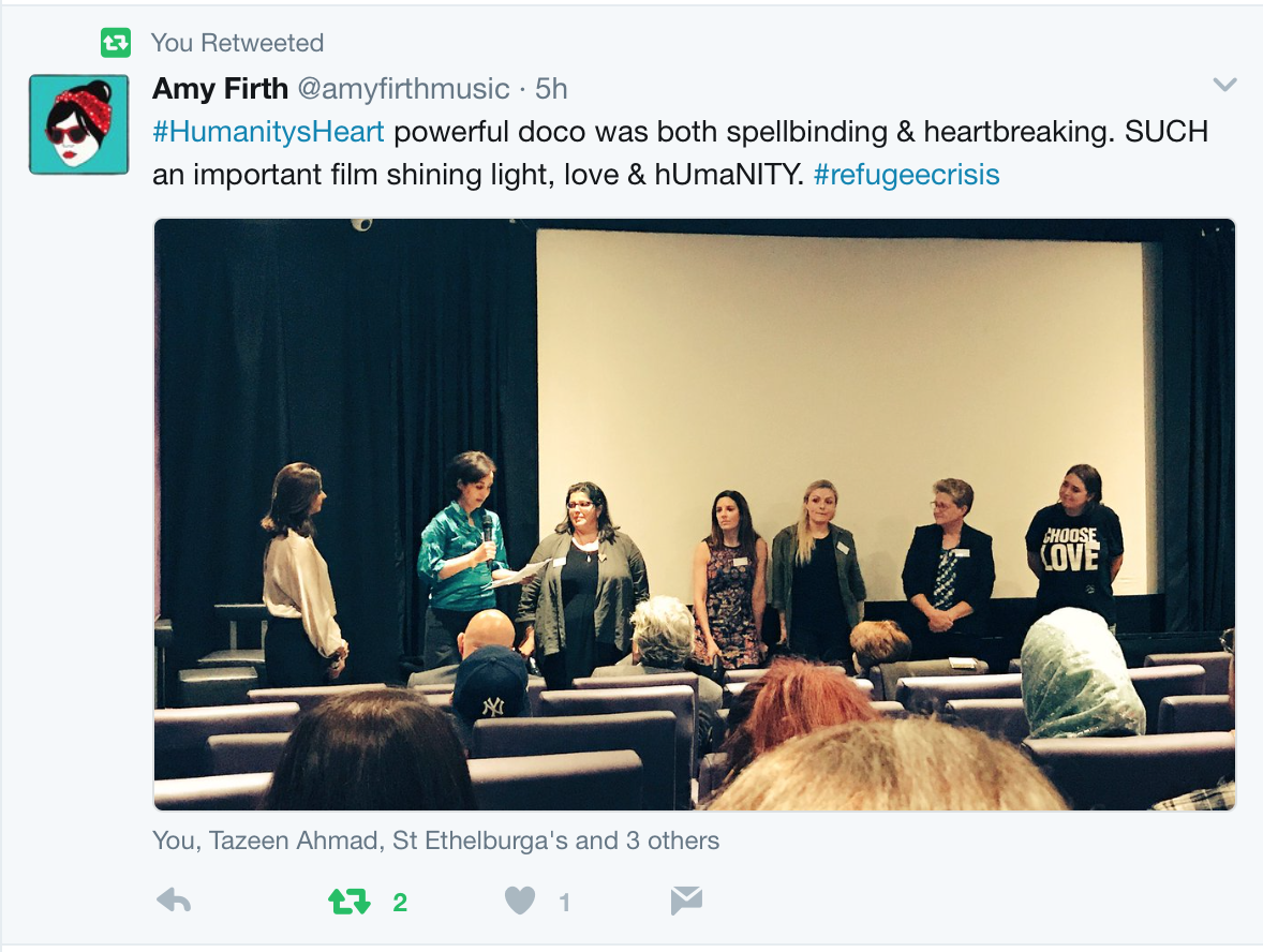 Global Actvitsm panel with Iman Mortagy, Maria Wilby, Tamsyn Brewster, Anna Jones, Lisa Campbell and Josie Norton.   Photo credit: Amy Firth