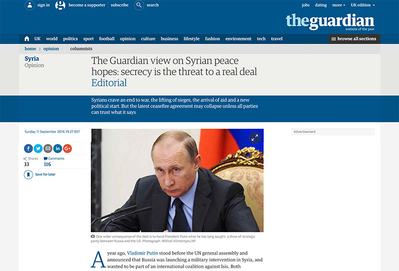Guardian news on Syria