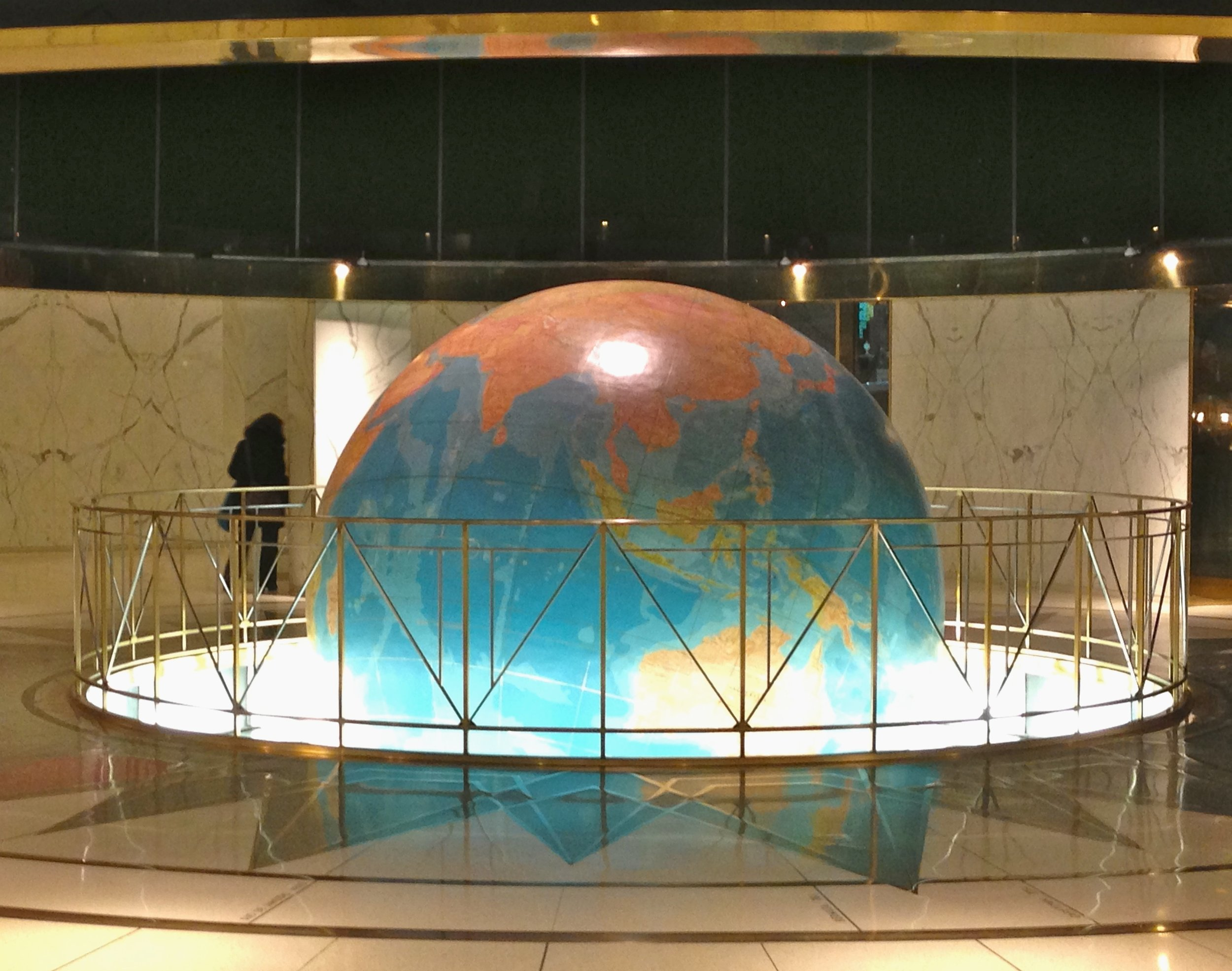 "The ""News"" Building globe"