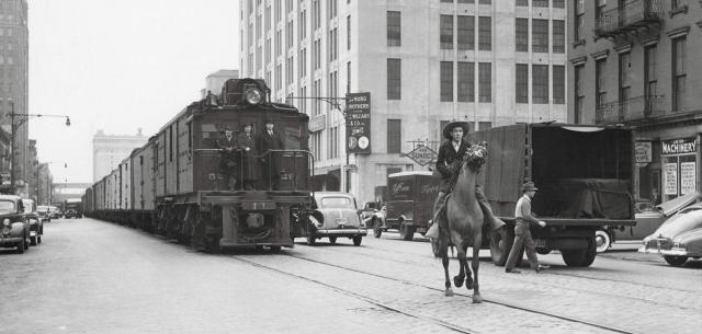 """West Side Cowboy along """"Death Avenue"""""""