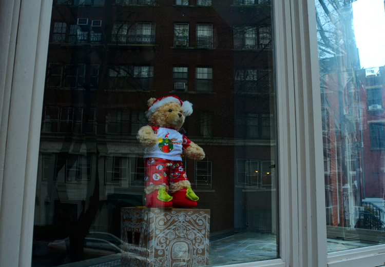 One of the Paddington Bears that graced the window of 18 West 11th Street for many years