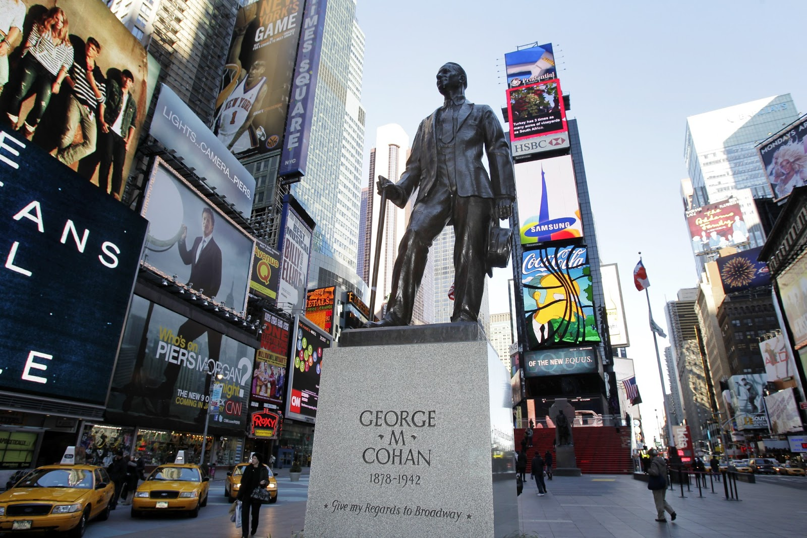 George M. Cohan statue at the crossroads of the world