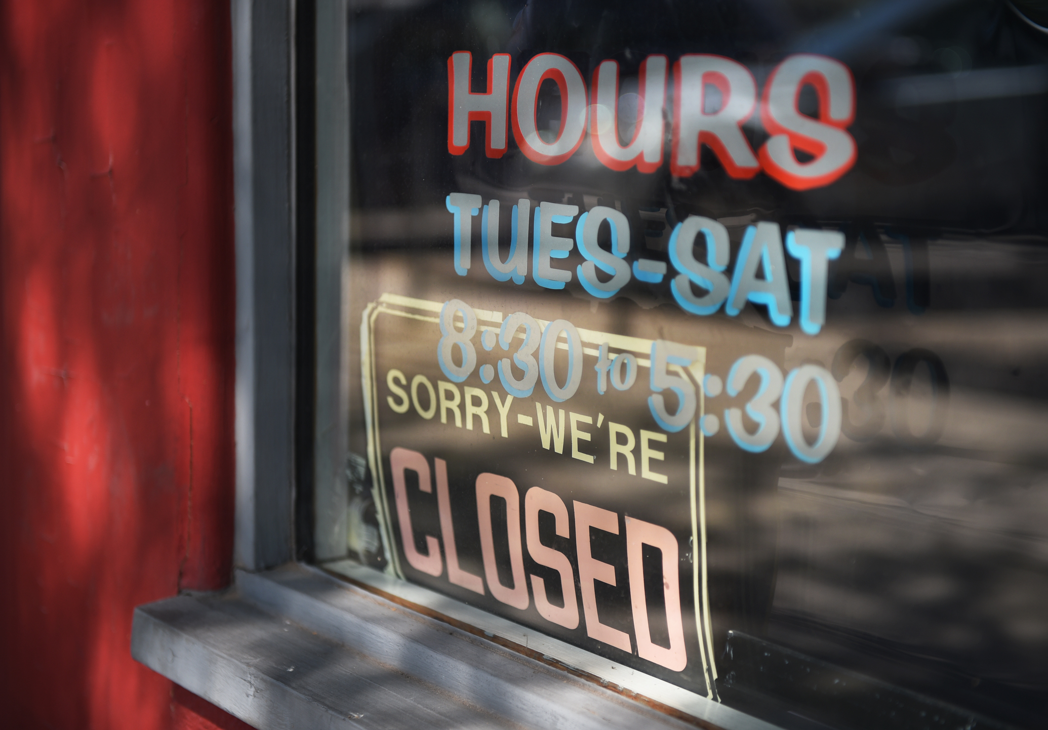 During business hours the sign reads closed. The regulars know to walk in and every now and then someone new will wander through the door asking if he is open.