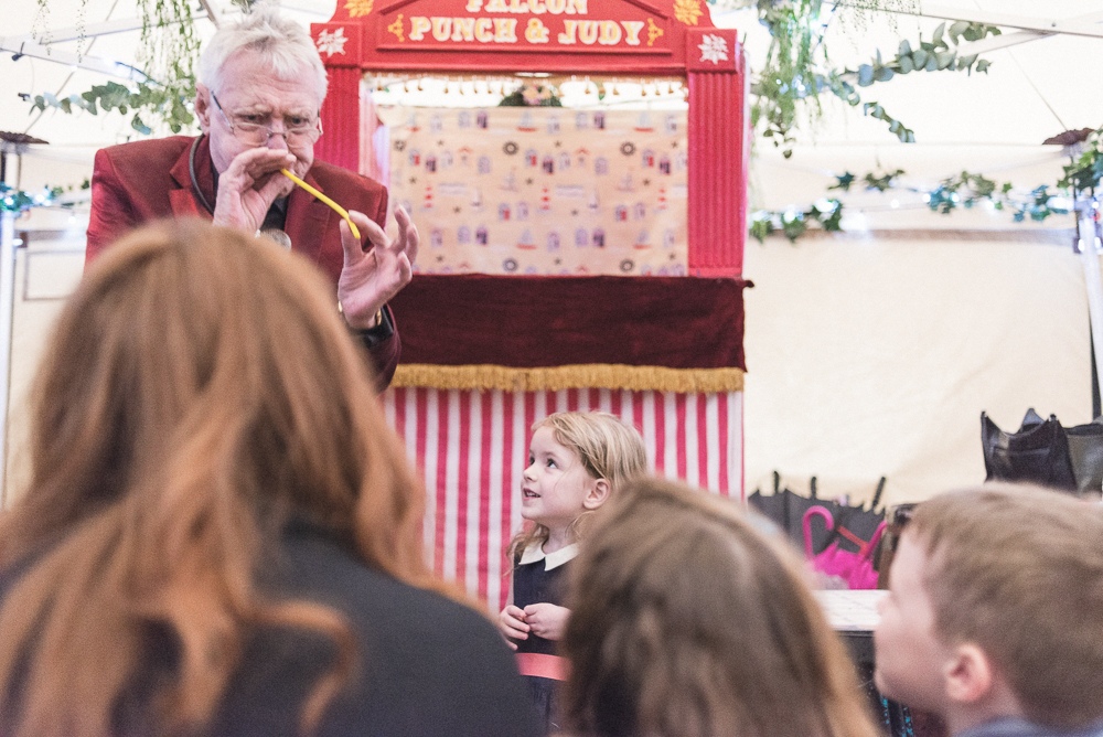 Punch and Judy show in Croston old hall Wedding