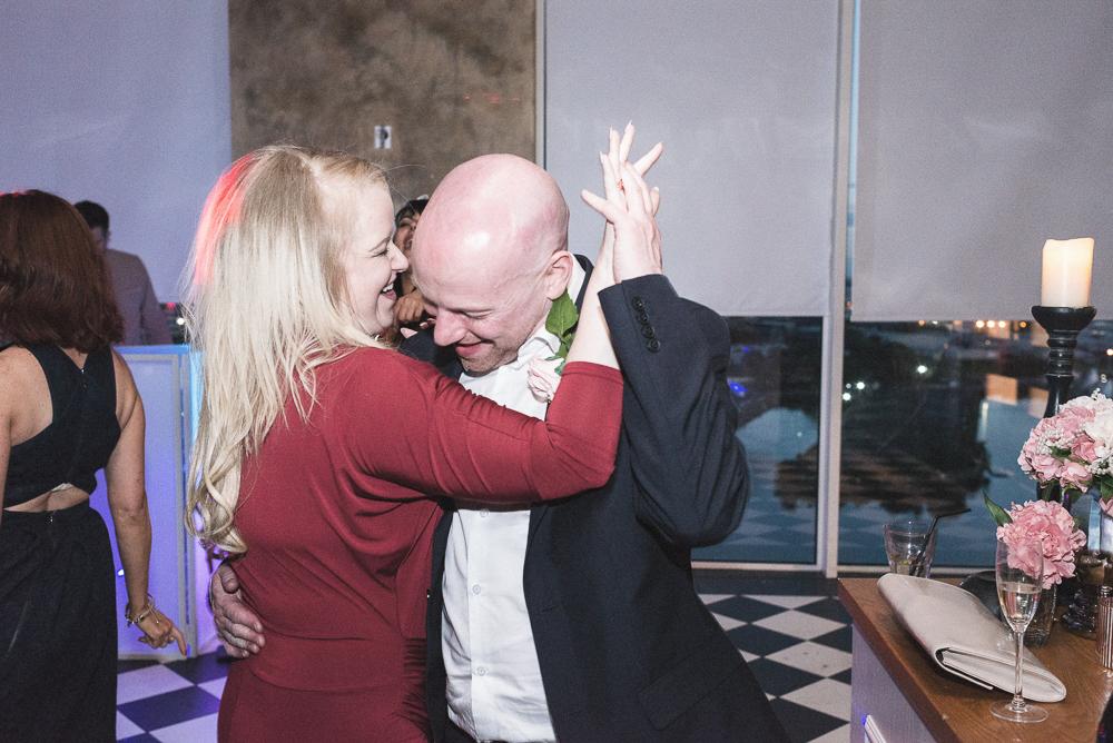 Couple dance during wedding