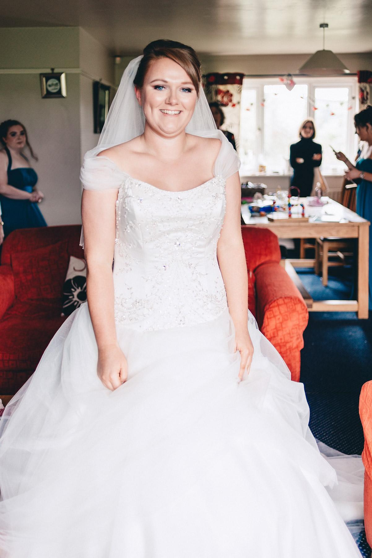 Bride in full length image