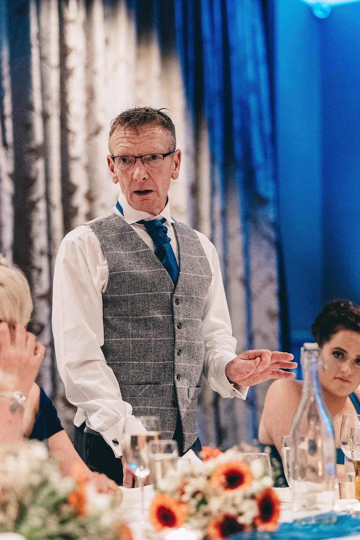 Father of the bride gives a speech