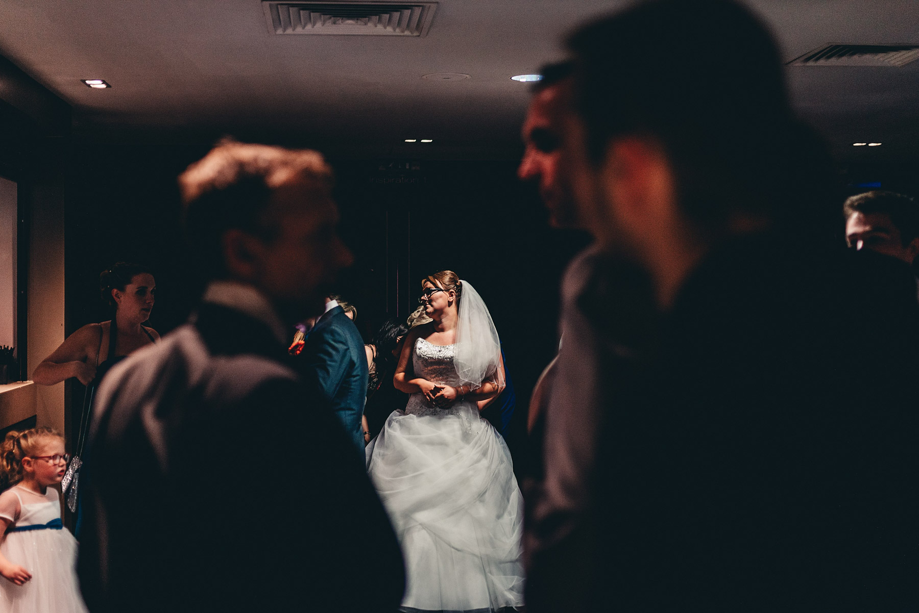 Bride with dramatic light