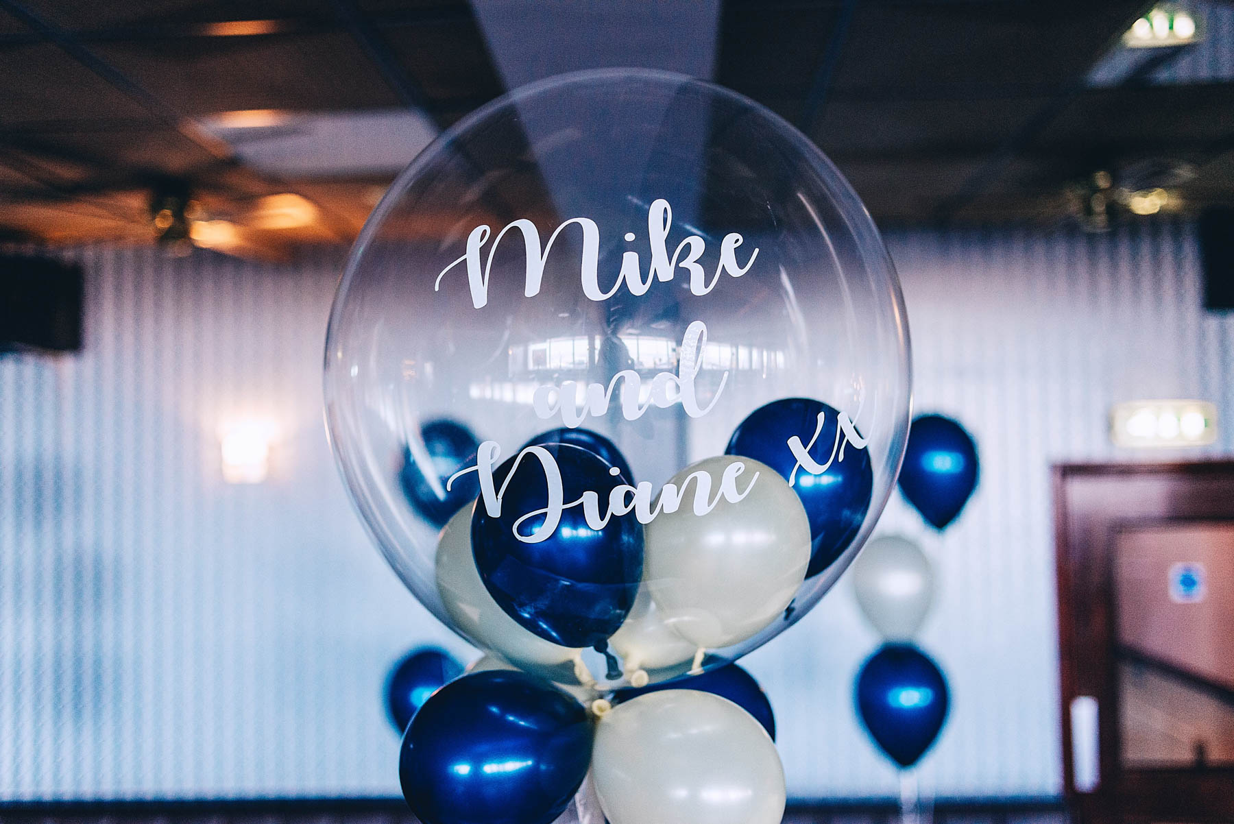 Balloon with couples name on it